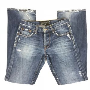 Lucky Brand Mens Slim Bootleg Button Fly Jeans S29